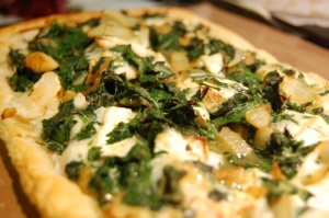 Spinach, thyme and goats' cheese tart2